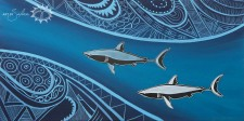 These two majestic and powerful sharks hunting in tandem remind us of their powerfully majestic Creator and the strength given when working well as a focused team…